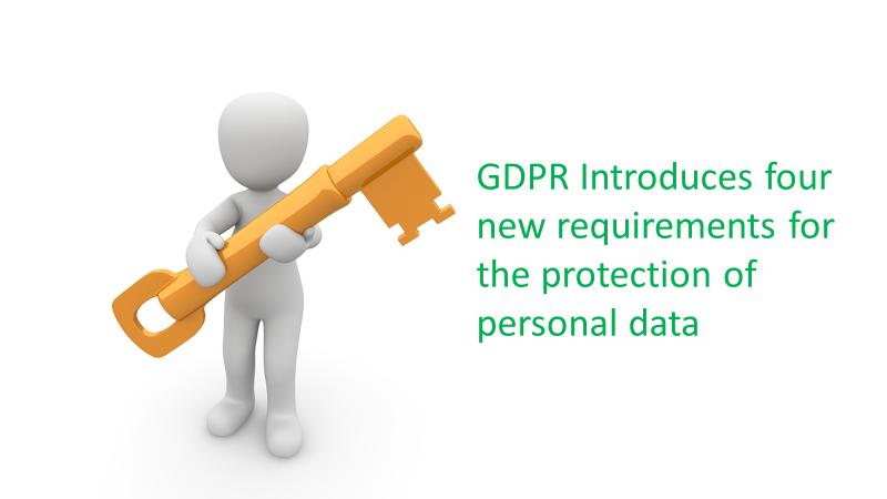 GDPR - four new requirements for protection personal data